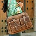 'World Traveler' Leather Travel Bag (Mexico)