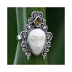 Sterling Silver 'Sleeping Princess' Citrine Ring (Indonesia)