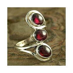 'Melody' Garnet Cocktail Ring (India)