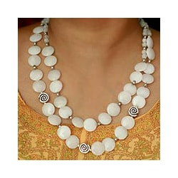 Moonstone 'Dreamer' Strand Necklace (India)