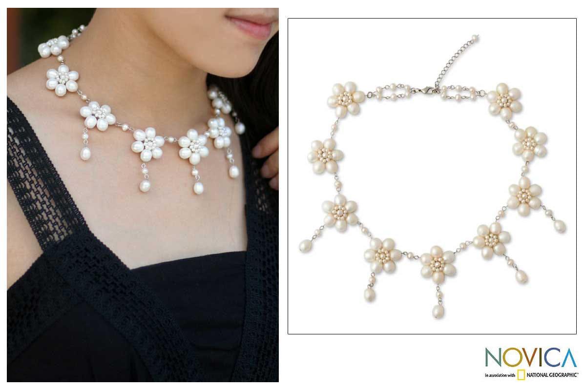 'White Jasmine' Pearl Choker (Thailand)