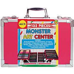 Alex 132-piece Children's Monster Art Center with Storage Trays