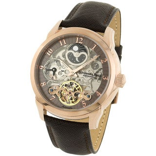Stuhrling Original Men's Tempest Automatic Watch Light Brown Dial Ring