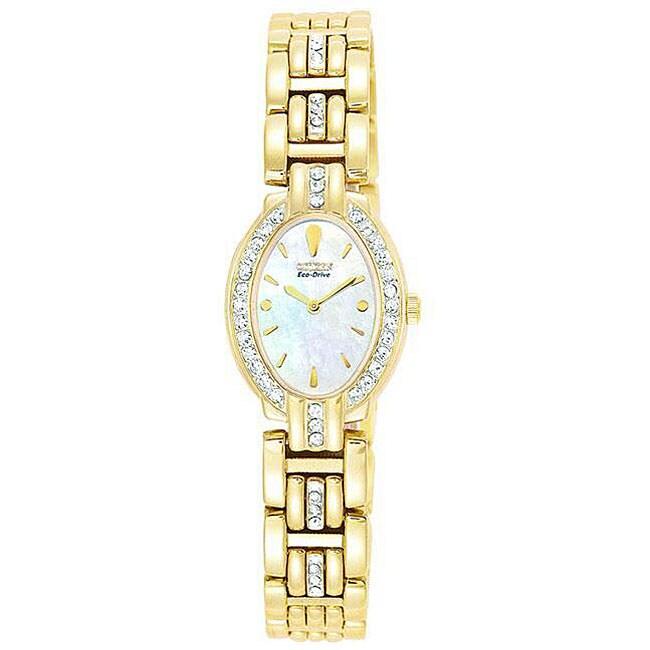 Citizen Women's Eco-drive Crystal Goldtone Watch