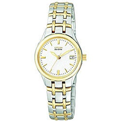 Citizen Women's Eco-Drive Silhouette Twotone Crystal Watch