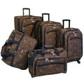 American Flyer Budapest Metallic Blue 5-piece Spinner Luggage Set