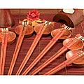 18-piece Inlaid Wood Square Design Chopsticks Set