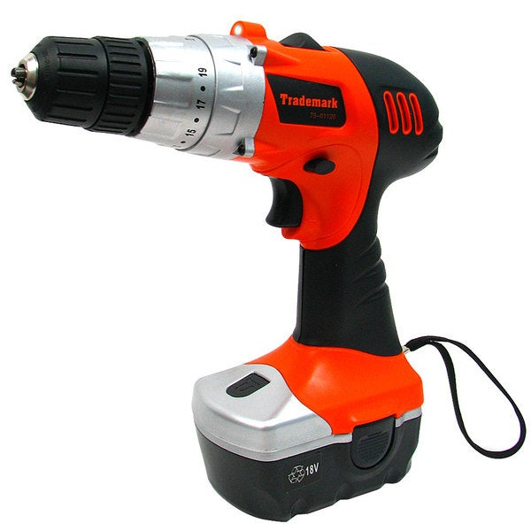 LED Light and 18-volt Cordless Drill