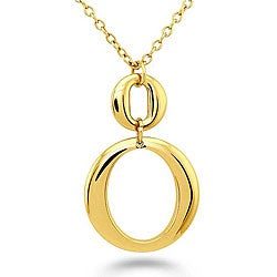 Oliveti Goldplated Stainless Steel Double 'O' Necklace