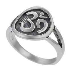 Tressa Sterling Silver Ohm Ring