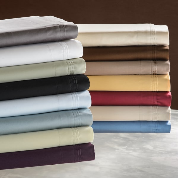 Luxor Treasures Solid Egyptian Cotton 650 Thread Count Split King Sheet Set in White (As Is Item)