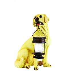 LED Solar Light Yellow Labrador Dog Lantern