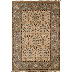 Transitional Hand-Knotted Legacy New Zealand Wool Rug (10' x 14')