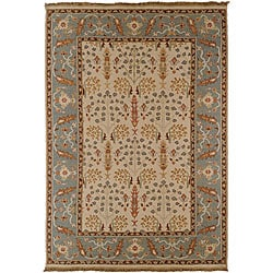 Hand-knotted Legacy New Zealand Wool Rug (6'x9')