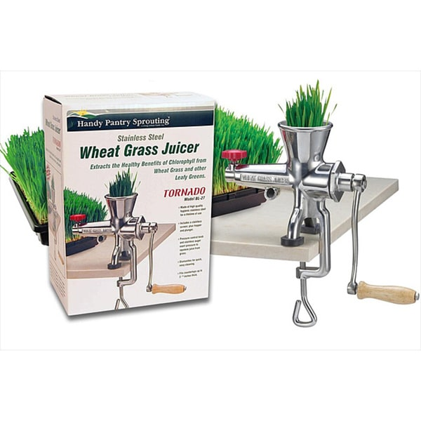 Living Whole Foods Stainless Steel Wheat Grass Juice Extractor 6043244