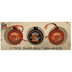 Cincinnati Bengals Glass Ornaments (Set of 3)