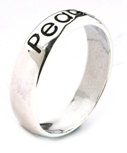 CGC Sterling Silver 'Peace' Ring