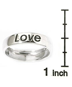 CGC Sterling Silver 'Love' Ring