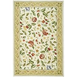 Safavieh Hand-hooked Boni Ivory/ Beige Wool Rug (6' x 9')