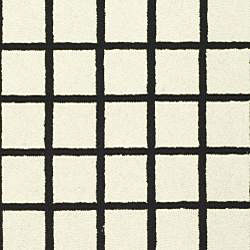 Safavieh Hand-hooked Harvest Ivory/ Black Wool Rug (6' x 9')