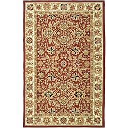 Safavieh Hand-hooked Kashan Red/ Ivory Wool Rug (5'3 x 8'3)