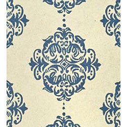 Hand-hooked Miff Ivory/ Blue Wool Rug (6' x 9')