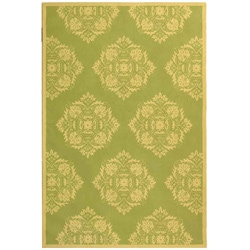 Hand-hooked Motifa Light Green Wool Rug (8'9 x 11'9)
