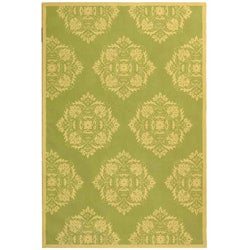 Safavieh Hand-hooked Motifa Light Green Wool Rug (8'9 x 11'9)