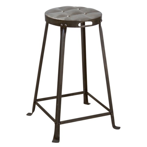 Metal Stackable Tufted Stool (India)
