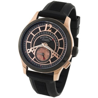 Stuhrling Original Black and Rosetone Men's Baily Automatic Watch