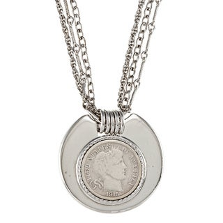 American Coin Treasures Silver Barber Dime Necklace