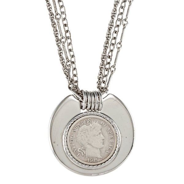 Barber Necklace : American Coin Treasures Silver Barber Dime Necklace