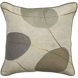 Cream/ Grey Throw Blanket and Decorative Pillows