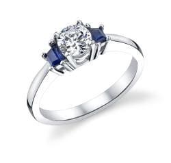 14k Gold 1/2ct TDW Diamond and Sapphire Ring (I, I1)