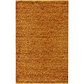 Handwoven Patras Natural Fiber Jute Orange Shag Rug (8' Square)