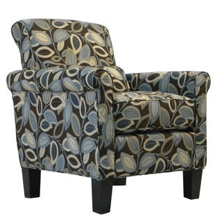 Portfolio Hyde Brown Modern Leaf Transitional Arm Chair