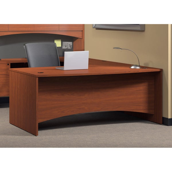 Mayline Brighton 72-inch Bow-front Cherry Desk