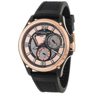 Stuhrling Original Men's Atlas Rosetone Skeleton Automatic Watch