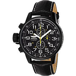 Invicta Men's Lefty Chronograph Leather Black Watch