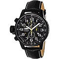 Invicta Men's 3332 Lefty Chronograph Leather Black Watch