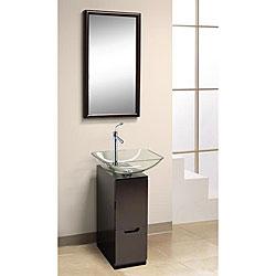 DreamLine Modern Glass 10-inch Slim Line Mahogany Vanity Set