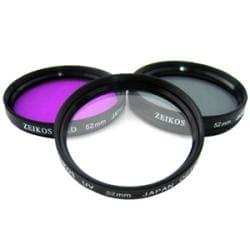 Zeikos 52mm Multi-coated Glass Filter Kit