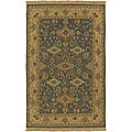 Hand-knotted Sangli New Zealand Wool Oriental Pattern Rug (6' x 9')