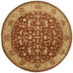 Hand-knotted Antolya New Zealand Wool Rug (8' Round)