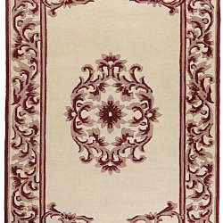 Hand-knotted Chateau New Zealand Wool Rug (9' x 13')