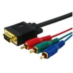 INSTEN Premium VGA to RCA M/ M 12-foot Black Component Cable