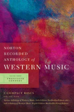 Norton Recorded Anthology of Western Music (CD-Audio)