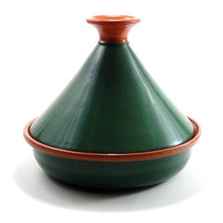 Emerald Green 12-inch Cookable Tagine (Tunisia)