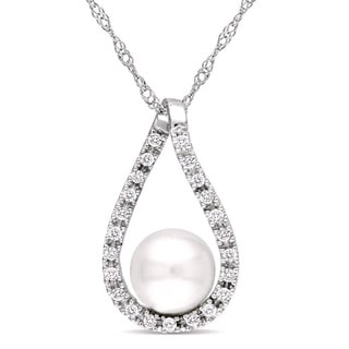 M by Miadora Multi-colored Cultured Freshwater Pearl Necklace (10-11 mm) with Bonus Earrings