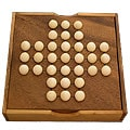 Handcrafted Peg-jumping Solitaire Game
